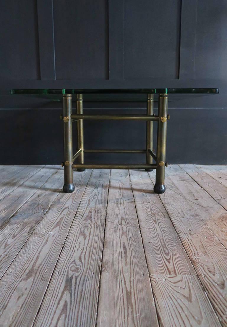 Brass coffee/side table