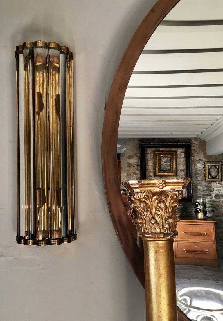 Pair Midcentury Style Murano glass sconces