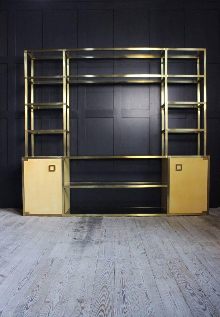 Brass shelves/divider, Spain, circa 1970