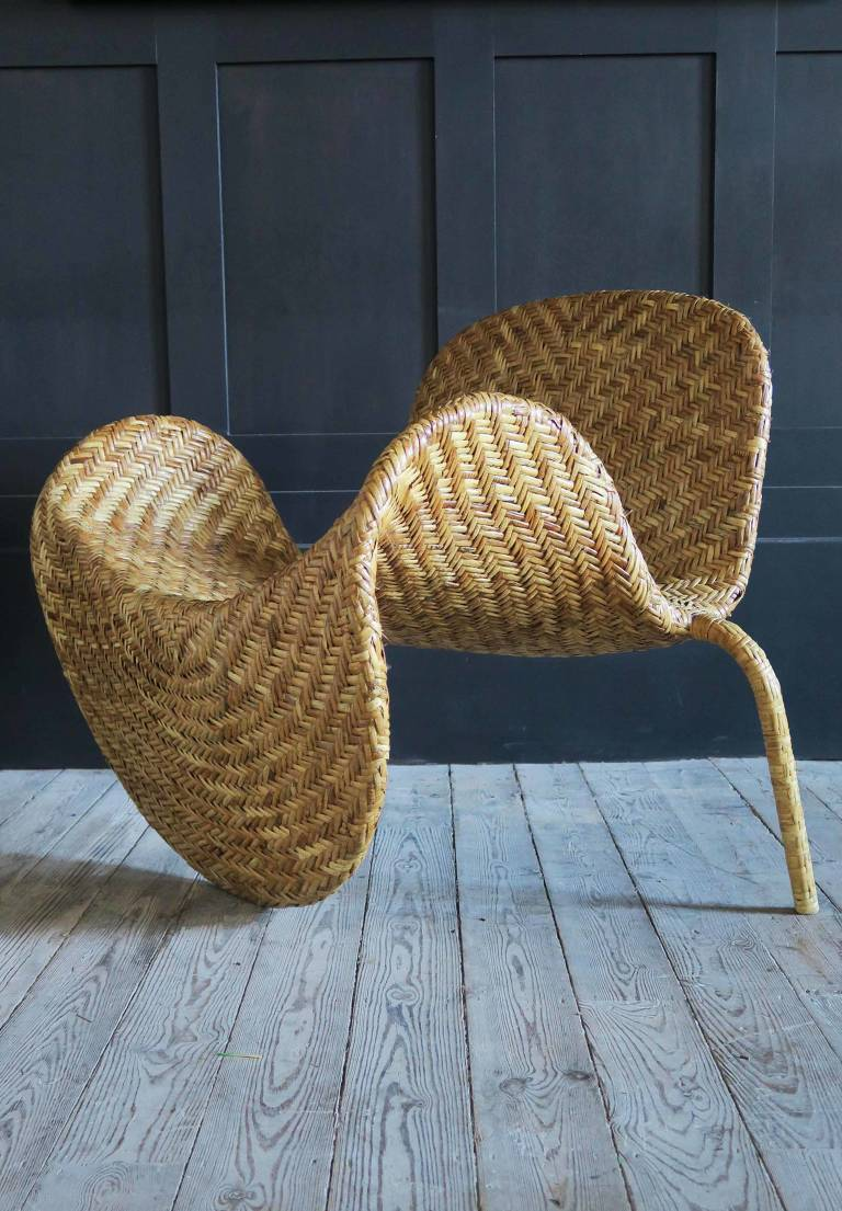 Cane Chair, c 1970, Italy