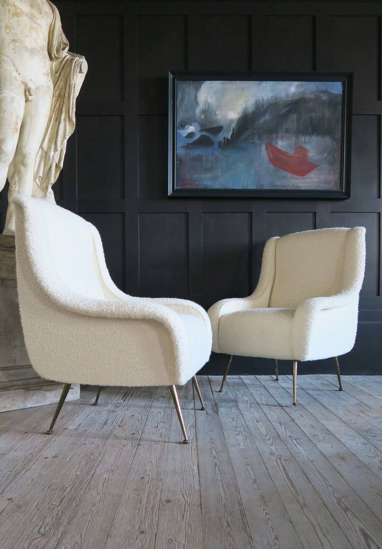 Pair of armchairs, 1950, Italy