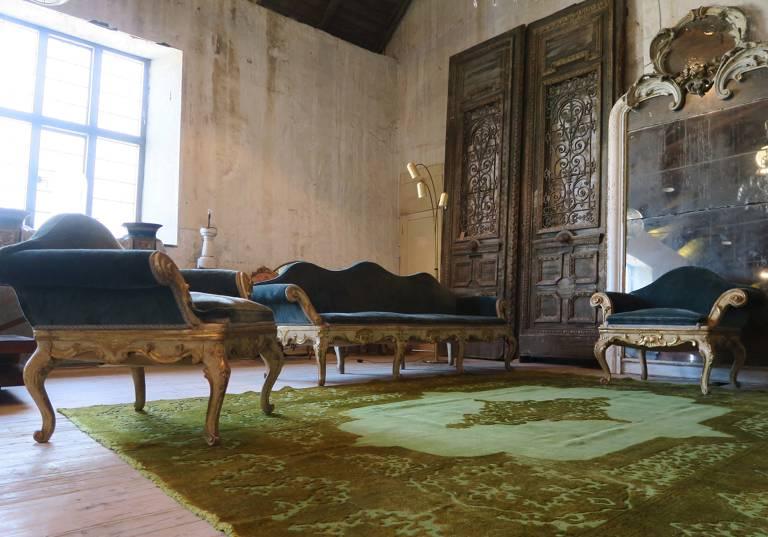Persian wool carpet, circa 1900
