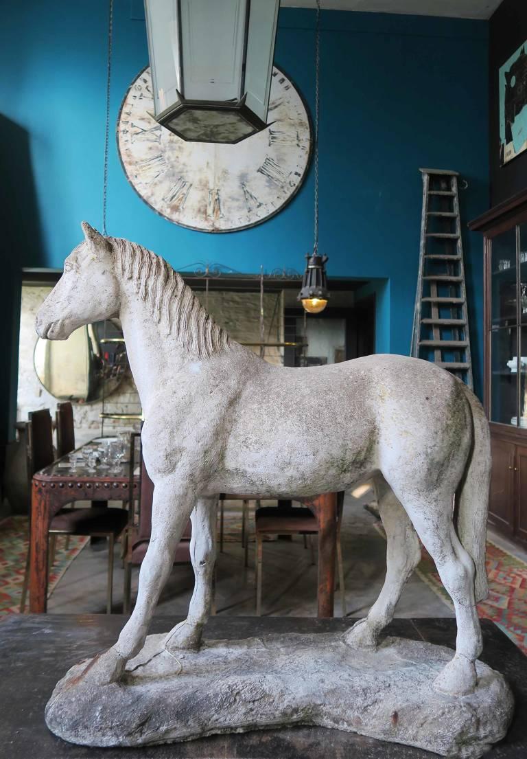 Composite stone Horse, 20th century, England