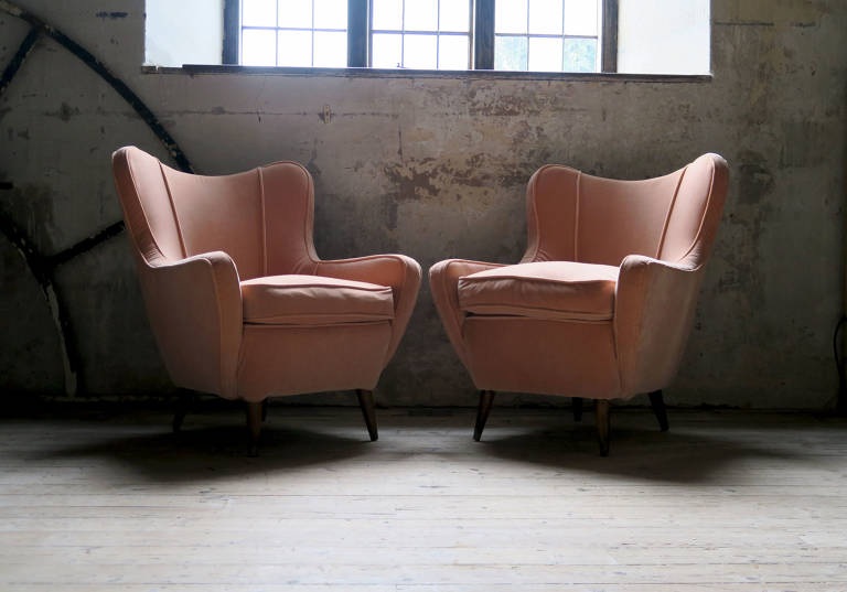 Pair of Armchairs, 1960s, Italy