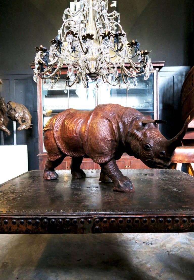 Midcentury Leather Rhino