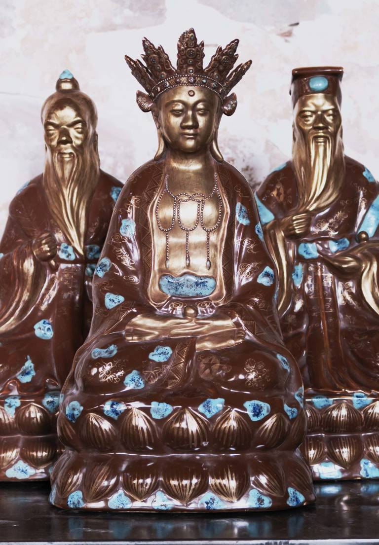 3 Porcelain Monks circa 1940, China
