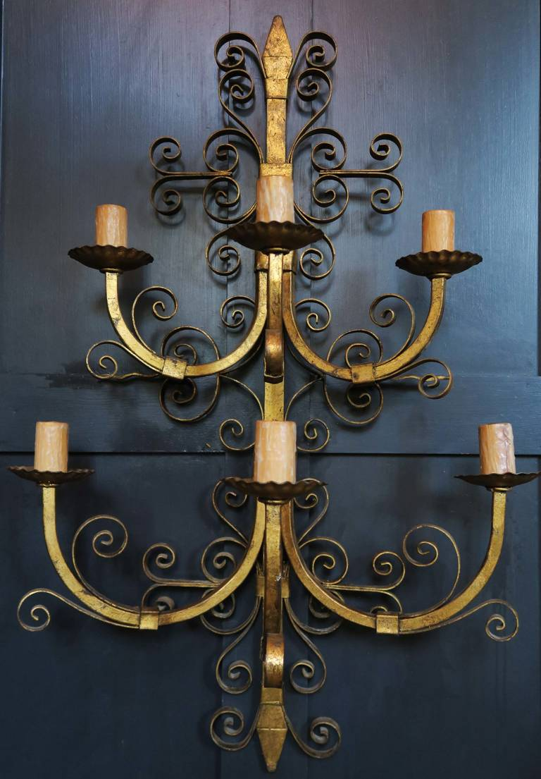 Gilt Wall Sconce, circa 1900, Spain